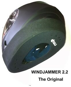 Windjammer-prolina-bloqueador-de-viento-de-casco-para-motociclistas-P-amp-P-GRATIS-En-todo-el-mundo
