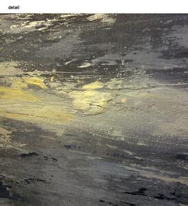 Large-Modern-Grays-amp-Gold-Abstract-Painting-Contemporar-Original-Wall-Art-Canvas
