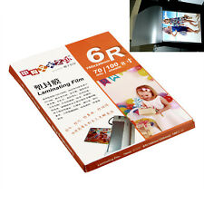 Pack Of 100 Sheets 160x220mm A5 Laminating Pouch Film Glossy Protect Photo Paper