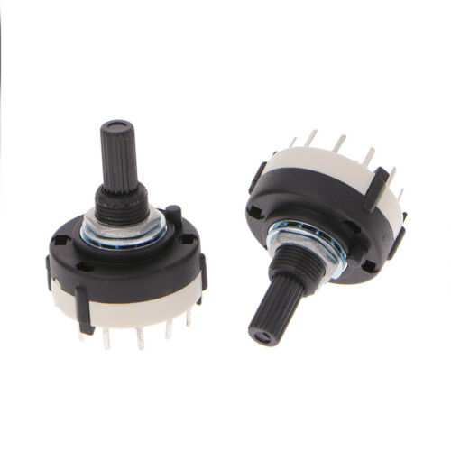 5 Pcs 6mm 4P3T 3 Position 4 Pole Shaft Diameter Band Selector Rotary Switch
