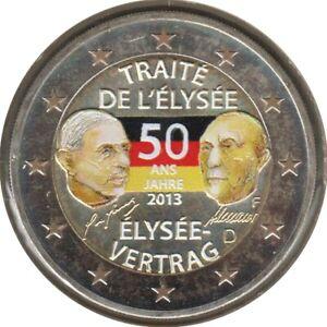 AL20013.3F - ALLEMAGNE - 2 euros commémo. Colorisée Traité de l'Elysée - 2013 F