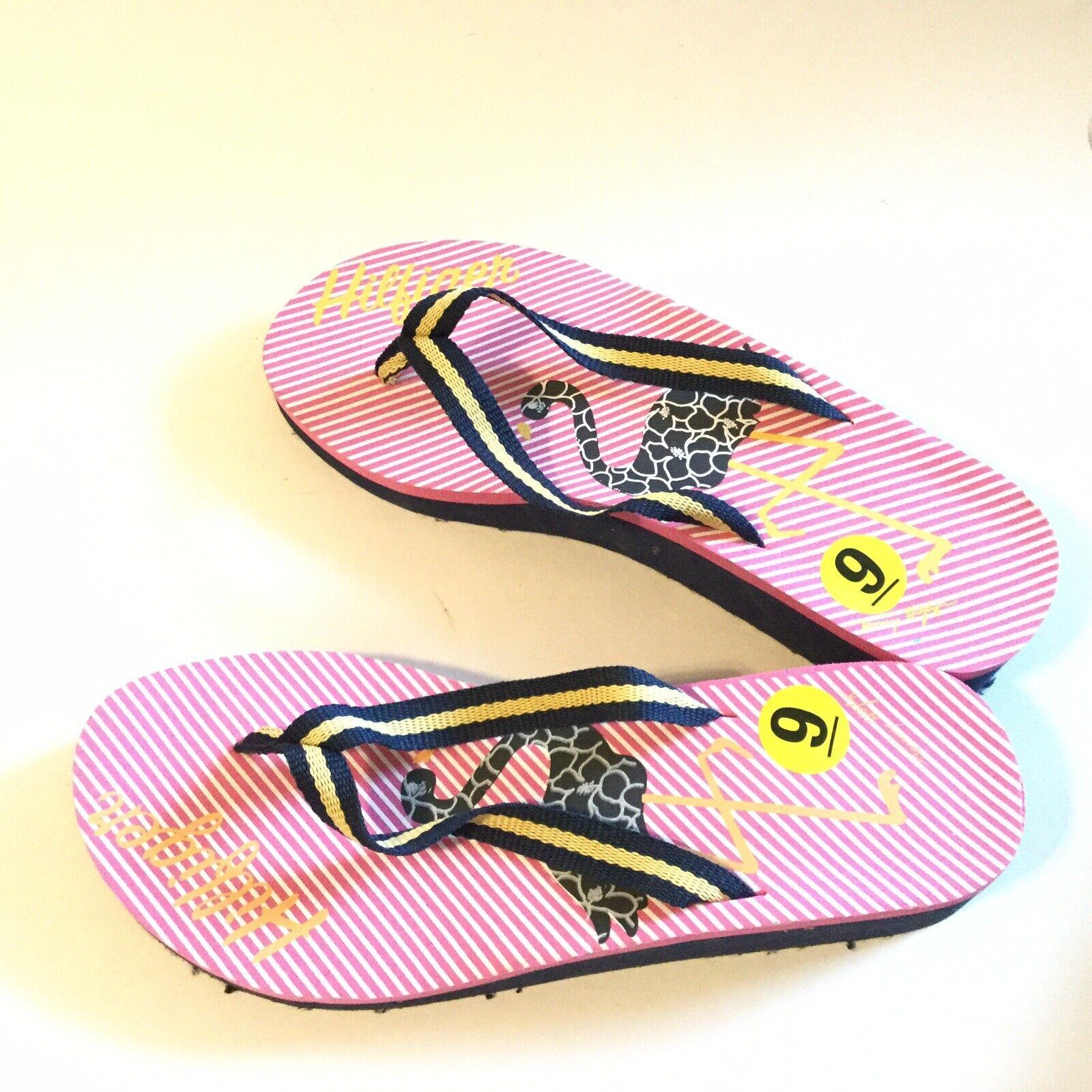 Tommy Hilfiger Women Size 9 Flip Flop Pink Navy S… - image 8