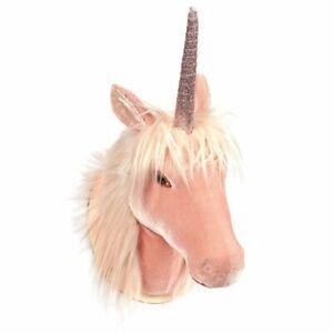 Unicorn-Head-Wall-Mount-Wall-Art-Room-Decor-Girls-Pink-8-5-034-x-16-2-034-x-7-034