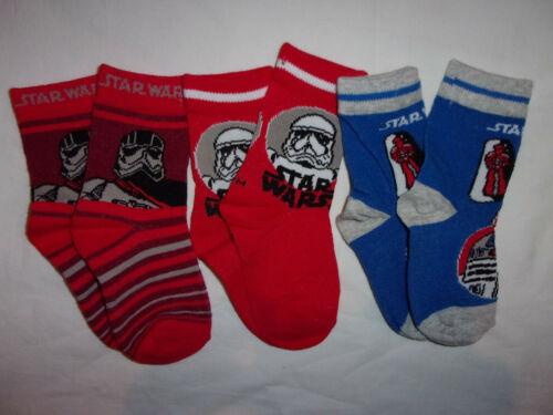 new SENT LOOSE 3prs boys Disney Star wars socks.aged 12-24mths