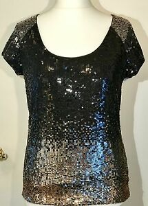 Occasioni Hobbs Sequin Top 16 Silver Nwt Showstopper Gold 18 Party Cocktail IOOqZUw