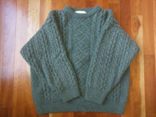 Western Island Merino Wool Knit Sweater Blue Green