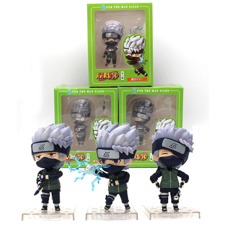 3 Pcs Set Nendgoldid Naruto Hatake Kakashi for The Man Xiang PVC Figure Model Toy