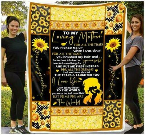 You Are The World Sofa Fleece Blanket 50-80 To My Loving Mother