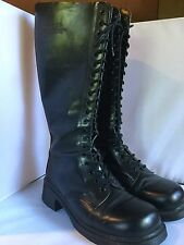 DR. Martens Boots Tall 20 Eyelets Made in England Women's Size 10-10.5 Men's 9