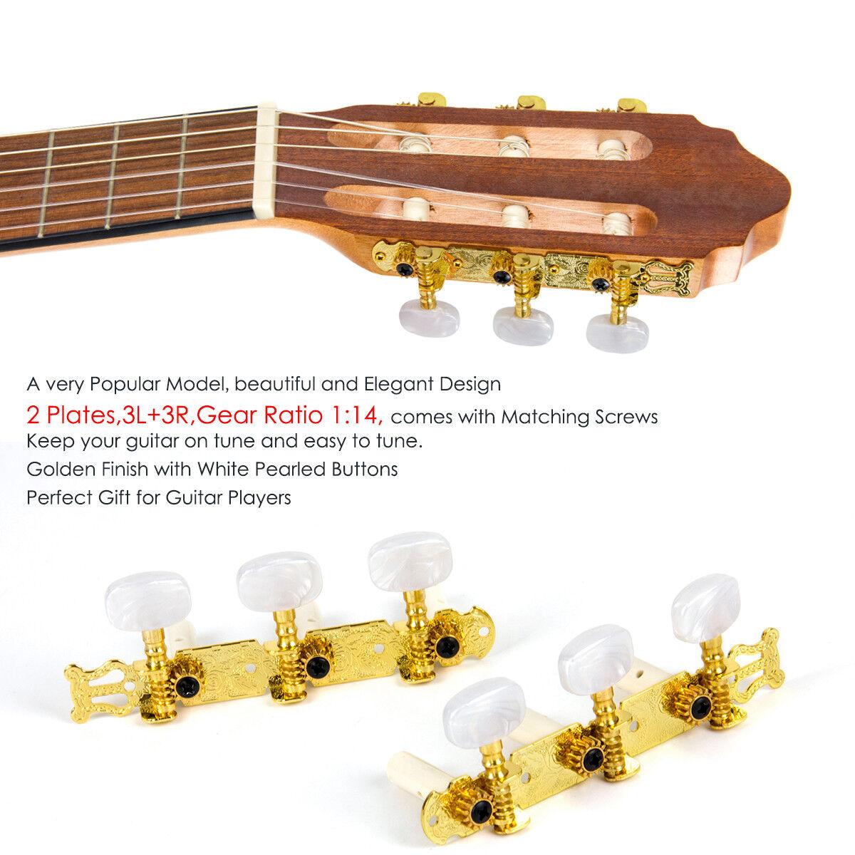 Swhmc Gold 4L4R Mandolin Guitar String Tuning Pegs Tuner Machine Heads Keys 8 Strings/Buttons