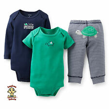 Carter's 3-piece Turn Me Around Set Blue Turtle 6 months Authentic & Brand New