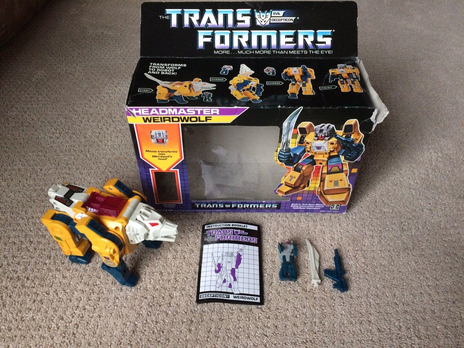Transformers G1 Weirdwolf VINTAGE preside completa Hasbro 1987