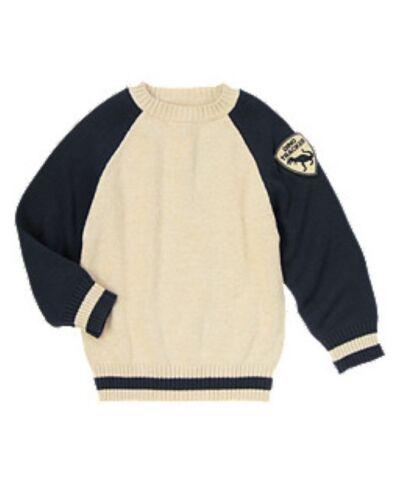 NWT Gymboree Dinosaur Dino Tracker T-Rex Pullover Sweater NEW Boys M 7 8