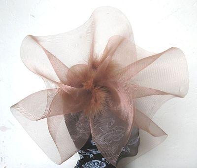 green crin fascinator headband headpiece wedding party piece race ascot bridal