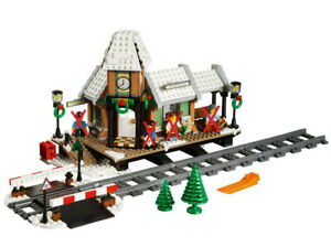 Lego-CREATOR-10259-Gare-d-039-Hivers-UNIQUEMENT-NO-Figurines-Neuf-Ouvert