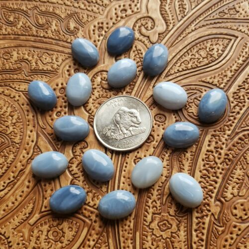 Details about  /Wholesale Lot 4x6mm Natural Blue Opal Oval Cabochon Loose Calibrated Gemstone