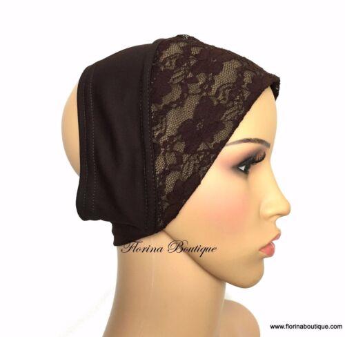 Pretty Lace underscarf bandana cap under hijab inner stretchy soft eid