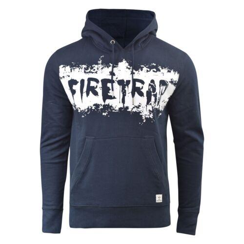 Mens Hoodie Firetrap Designer Overhead Ruxton Hooded Jumper Sweatshirt Top