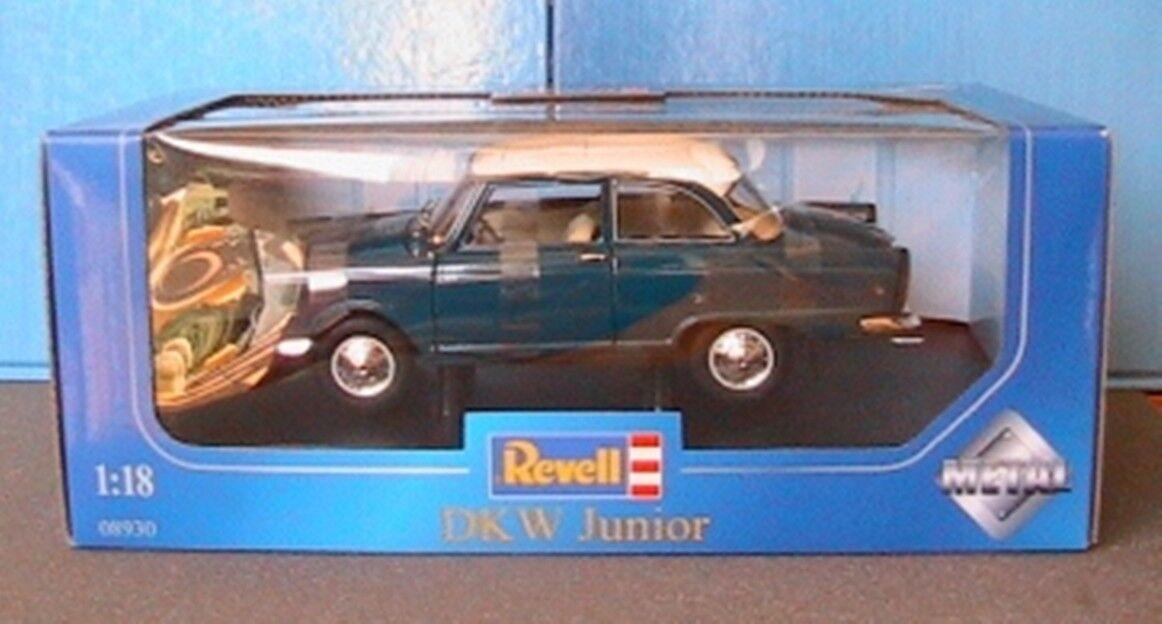 Dkw junior 1959 bleugcourir-weiss revell 08930 1 18  bleu vert 1 18 blanc roof  pas cher et de haute qualité