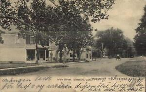 Simsbury-CT-Main-St-c1910-Postcard