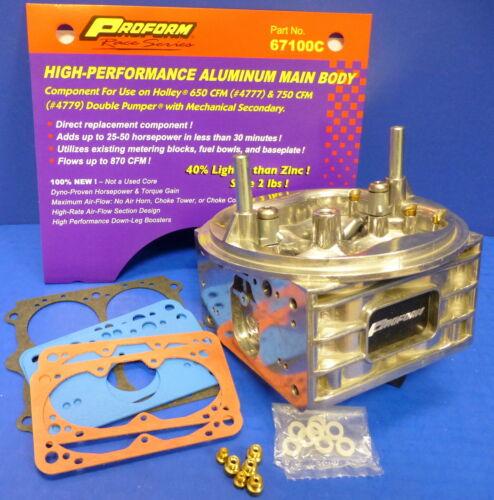 Proform 67100C Replacement Holley Carburetor Main Body 4150 650 700 750 800 CFM