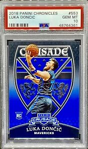 PSA-10-RC-Luka-Doncic-2018-19-Panini-Chronicles-CRUSADE-553-Rookie-QTY