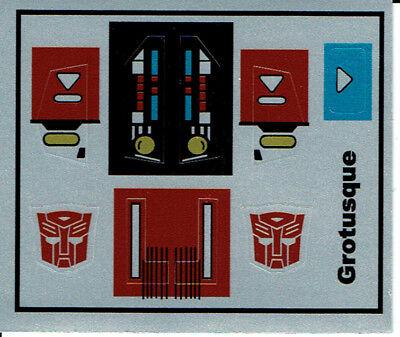 G1 Grotusque Sticker Decal Sheet
