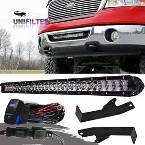 For-2006-2008-Ford-F150-20-034-Off-road-Combo-LED-Light-Bar-Hidden-Bumper-Bracket