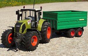 Tracteur Rc Xl Claas Axion 870 Avec Remorque Au 1:16    262455-1  top Qualität