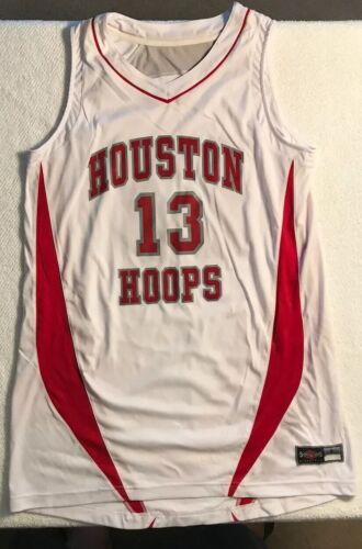 Details about  /Houston Hoops Basketball Jersey Top /& Shorts Set-White//Red Large *NEW*