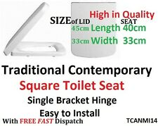SQUARE TOILET SEAT TC In White Rounded Front Standard Fitting TCANMI14 FAST  POST
