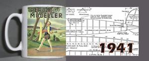 Dynamique Aeromodeller Vintage Mug Design 1941 ChronoméTrage Ponctuel
