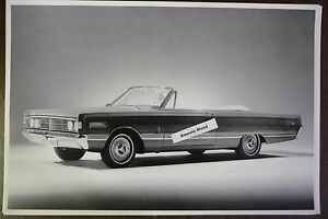 1966-Mercury-Parklane-Convertible-top-down-12-By-18-034-Black-amp-White-PICTURE