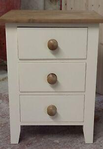 best website 8451d 7d791 Details about Painted Shaker Style Bedside Cabinet - 3 drawer
