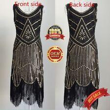 8693cb4c0e8f item 1 Women's 1920s Gastby Inspired Sequined Embellished Fringed Flapper  Dress UK4-20 -Women's 1920s Gastby Inspired Sequined Embellished Fringed  Flapper ...