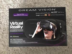 Tzumi Dream Vision Pro Virtual Reality VR Smartphone Headset w//Controller NIB
