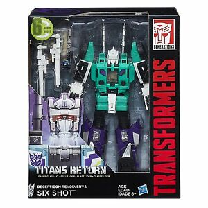 Transformers Generations Titans Retour Leader Six Shot G1 Nouveau en Stock