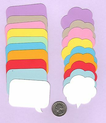 "Conversation Bubble 20 pieces Any Color 2/"" tall Speech Bubble Die Cuts"
