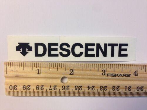 DESCENTE BLK Road Tri Mountain Bike Frame Sticker Decal