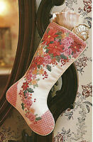 Poinsettia Christmas Stocking & Ornaments Cross Stitch Patterns From A Magazine