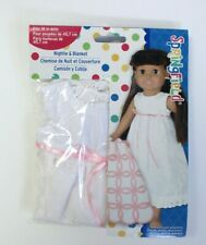 """Doll Clothes 18/"""" Nightgown White Eyelet Springfield Fits American Girl Dolls"""