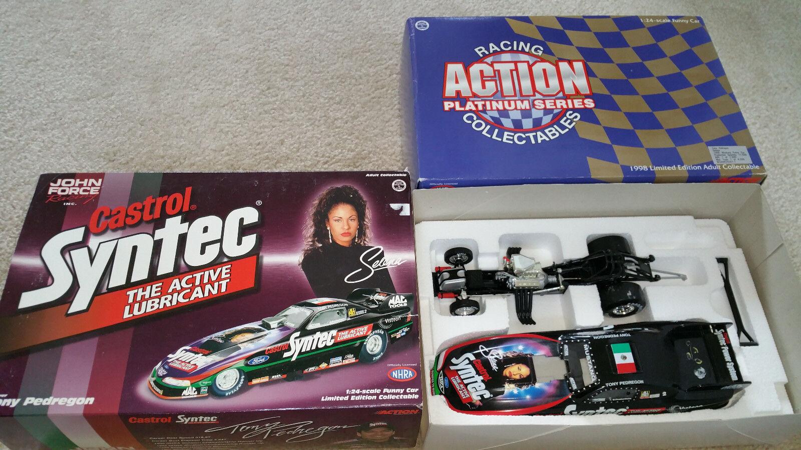 Selena Quintanilla John Force Casstrol Syntec car 1:24 Tony Pedregon LAST ONE!