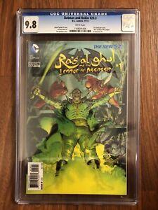 """Batman And Robin #23.3 CGC 9.8 3-D Lenticular Cover """"Ra's Al Ghul & The LOA #1"""""""