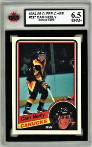1984-85-O-Pee-Chee-327-Cam-Neely-RC-Graded-6-5-ENM-062319-05
