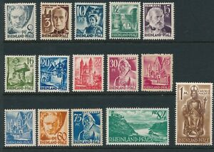 Stamp-Germany-SC-5N1-13-Set-1947-Post-WWII-Rhineland-Occupation-MNG