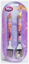 Disney Store Tangled Rapunzel Kid's Flatware Fork & Spoon Set