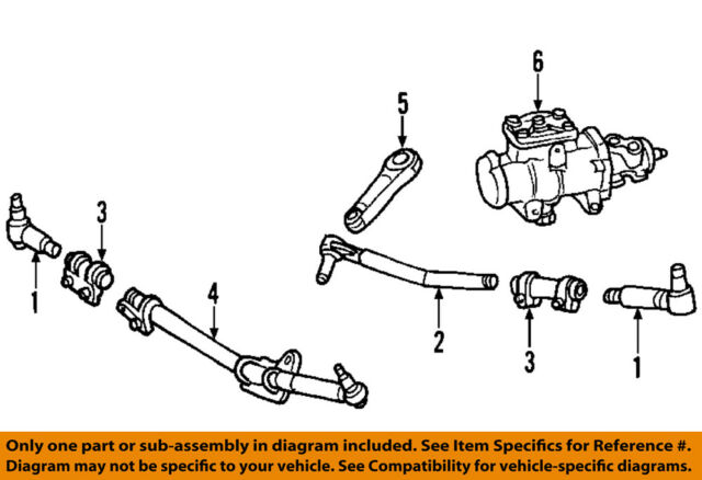 Ford OEM 99-02 F-250 Super Duty-rack and Pinion Complete Unit YC3Z3504ABRM  for sale online   eBayeBay