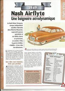 FICHE TECHNIQUE AUTOMOBILE - NASH AIRFLYTE 1949 ycp0cYt2-09160137-552666131