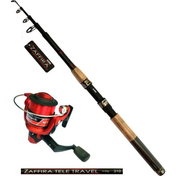 Amo Jaxon Zaffira Canna Da Pesca 2,10m Angel Ruolo Corral Red 120fd Con Filo Rafforzare La Vita E I Sinews