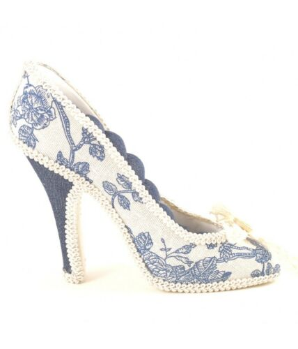 Porte bijoux porte bague escarpin bleu Jean